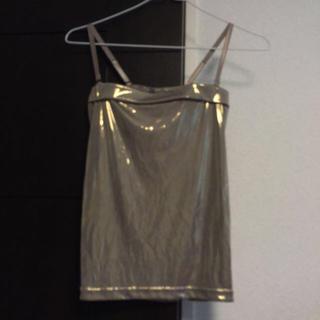 アーモワールカプリス(armoire caprice)のベージュゴールドのチューブトップ☆(ベアトップ/チューブトップ)