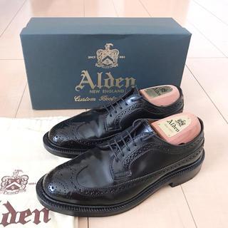 オールデン(Alden)の【使用3回】Alden 9751 コードバン ブラック 5.5D シューツリー付(ドレス/ビジネス)