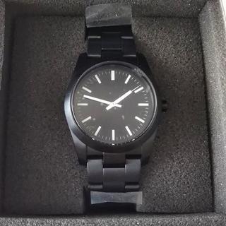 ムジルシリョウヒン(MUJI (無印良品))の無印良品 ステンレス腕時計 黒 レギュラー(腕時計(アナログ))
