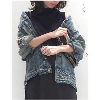 アパルトモンドゥーズィエムクラス(L'Appartement DEUXIEME CLASSE)の新品  R13  OVERSIZE DENIMジャケット(Gジャン/デニムジャケット)