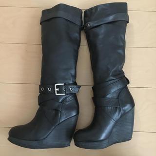 スライ(SLY)のSLY ロングブーツ ブラック サイズ 2(ブーツ)