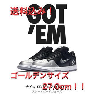 Supreme - Supreme/Nike SB Dunk Low ブラック×シルバー