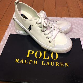 POLO RALPH LAUREN - スニーカー(POLO RALPH LAUREN 白 24cm)