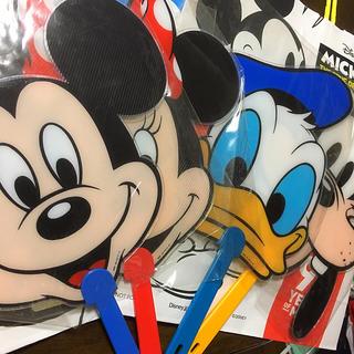 Disney - ディズニー うちわ 4種類