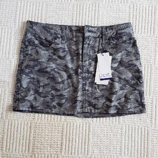 ルシアンペラフィネ(Lucien pellat-finet)のペラフィネ 迷彩柄スカート【タグ付】(ミニスカート)
