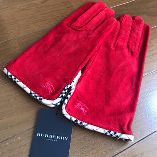 バーバリー(BURBERRY)のバーバリー 女性用 手袋 赤(手袋)