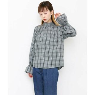 ケービーエフ(KBF)のKBF 新品未使用 スタンドネックチェックシャツ(シャツ/ブラウス(長袖/七分))