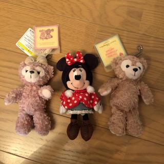 Disney - 【美品】ダッフィー シェリーメイ ミニーちゃん ぬいぐるみバッジ