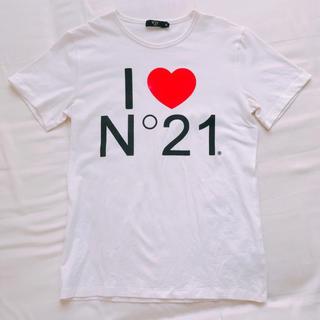 ヌメロヴェントゥーノ(N°21)の【美品】ヌメロ/I LOVE N°21ロゴ半袖Tシャツ(Tシャツ(半袖/袖なし))