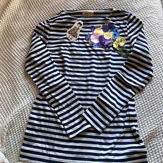 ビームスボーイ(BEAMS BOY)のレブリカブラック  フラワー アップリケ ロンT(Tシャツ(長袖/七分))