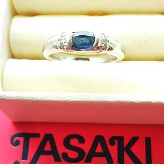 タサキ(TASAKI)のTASAKI プラチナサファイアリング(リング(指輪))