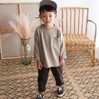 MUJI (無印良品) - 長ズボン 110cm チャコール 黒
