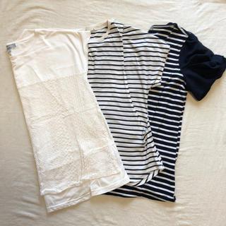 西松屋 - 半袖授乳服set💜マタニティM、L