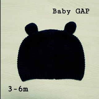babyGAP - 【美品】ベビーギャップ babygap クマ耳付き ニット帽