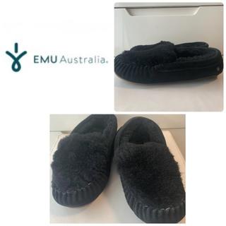 EMU - emu  ブラックシープスキン モカシン