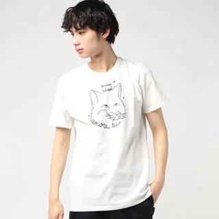 MAISON KITSUNE' - 新品 メゾンキツネ maison kitsune Tシャツ 半袖 フェイス