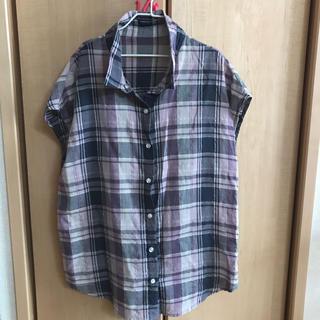 ジーユー(GU)のgu♡チェックシャツ(シャツ/ブラウス(半袖/袖なし))