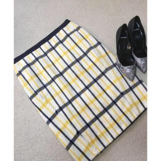 ドゥロワー(Drawer)のドゥロワー   ツウィードスカート 36(ひざ丈スカート)