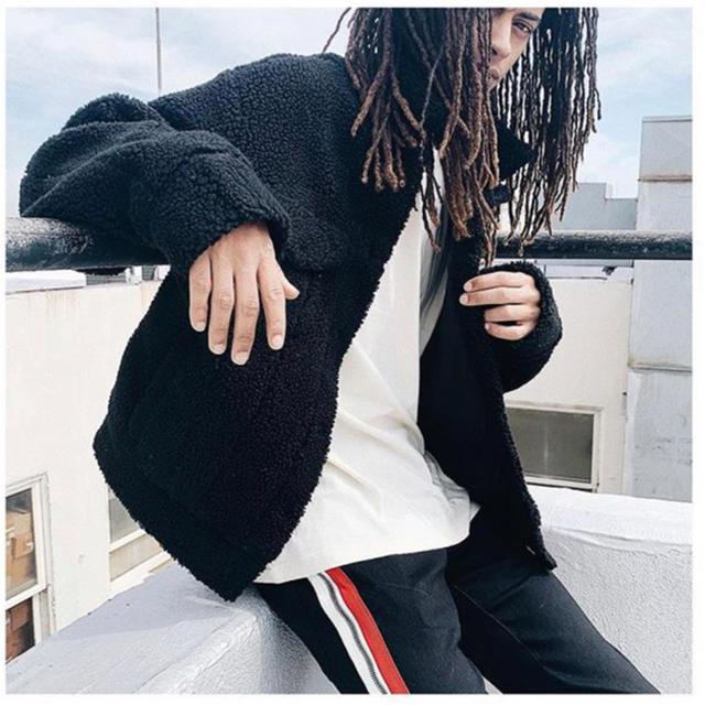 FEAR OF GOD(フィアオブゴッド)の【新作】mnml SHERPA JACKET  Black メンズのジャケット/アウター(ブルゾン)の商品写真