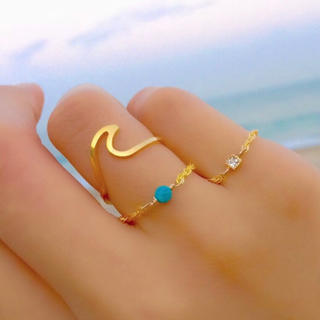 アリシアスタン(ALEXIA STAM)の送料無料✴︎wave ring 波モチーフ  ウェーブリング ゴールド(リング(指輪))