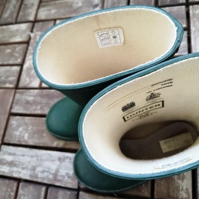 HUNTER(ハンター)のHUNTER ハンター レインブーツ 長靴 キッズ サイズ7 キッズ/ベビー/マタニティのベビー靴/シューズ(~14cm)(長靴/レインシューズ)の商品写真