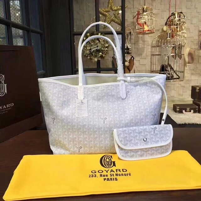 GOYARD(ゴヤール)のゴヤール バッグ トートバッグ サンルイPM ホワイト レディースのバッグ(トートバッグ)の商品写真