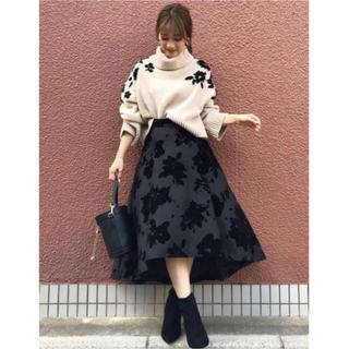 MERCURYDUO -  MERCURYDUO フロッキー花柄スカート