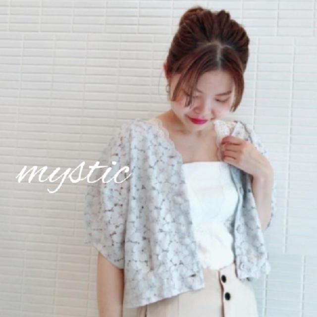 mystic(ミスティック)のパワショルレースフラワーブラウス💐 レディースのトップス(シャツ/ブラウス(半袖/袖なし))の商品写真