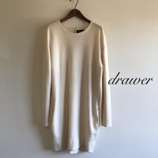 Drawer - 美品⭐️Drawer/ドゥロワー ウールニットワンピース ホワイト