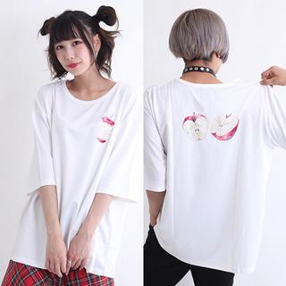 【DrugHoney】毒蜜りんご(単品)柄Tシャツ