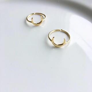 アリシアスタン(ALEXIA STAM)の新作♡baby half moon ring・ silver925可愛いです(リング(指輪))