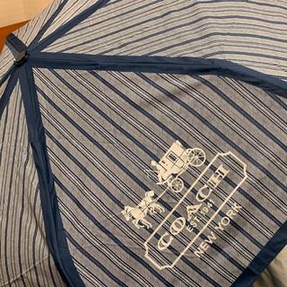 コーチ(COACH)の【新品未使用】COACH 折りたたみ傘 ブルー(傘)