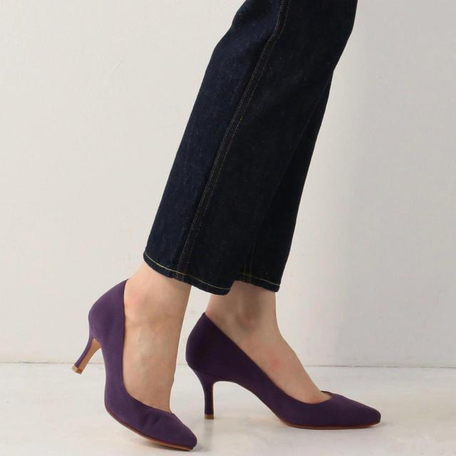 Odette e Odile(オデットエオディール)のオデット エ オディール  パープルパンプス レディースの靴/シューズ(ハイヒール/パンプス)の商品写真