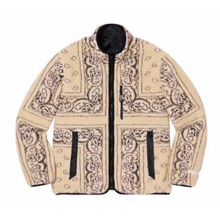Supreme - Reversible Bandana Fleece Jacket M Tan