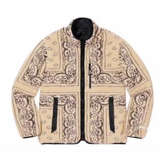 Supreme - MサイズReversible Bandana Fleece Jacket Tan