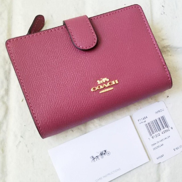 COACH(コーチ)の新品【COACH コーチ】二つ折り財布 (ルージュ) レディースのファッション小物(財布)の商品写真