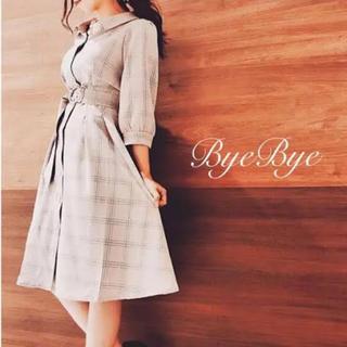 ByeBye - チェック柄ワンピ