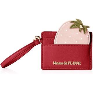 メゾンドフルール(Maison de FLEUR)の最終価格新品未使用 Maison de FLEUR  いちごモチーフカードケース(名刺入れ/定期入れ)