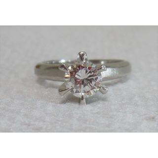 P900(プラチナ)一粒石 立て爪 ダイヤモンドリング(リング(指輪))