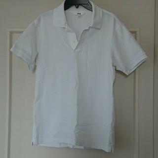 UNIQLO - UNIQLO メンズ白ポロシャツ