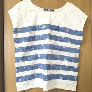 ジエンポリアム(THE EMPORIUM)のボーダーレースTシャツ(Tシャツ(半袖/袖なし))