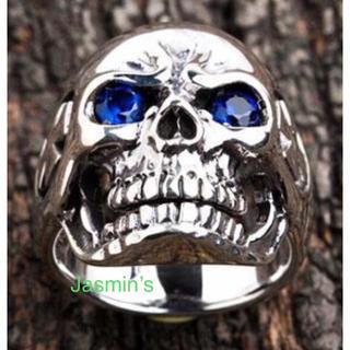 スカル ドクロ シルバー925 指輪 リング デザインリング 19号(リング(指輪))