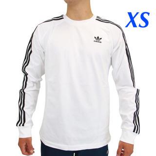 adidas - 【メンズXS】白  3ストライプ ロングスリーブTシャツ
