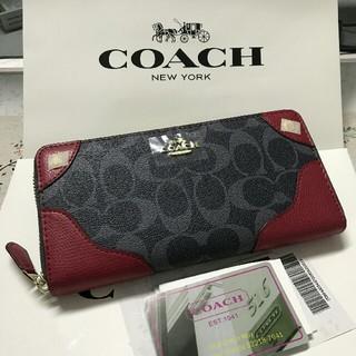 COACH - 未使用品COACH 長財布 コーチメンズレディースジッパー財布F53780