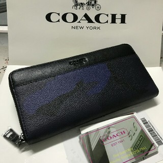 COACH - 未使用品COACH 長財布 コーチメンズレディースジッパー財布F75099