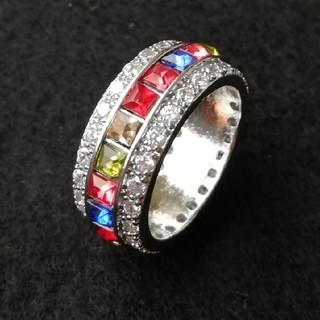 【新品セール品】マルチカラージルコニアフルエタニティリング12号~18号(リング(指輪))