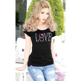 レディー(Rady)のRady×Kitty★キティLOVEストーンTシャツ新品サンリオ(Tシャツ(半袖/袖なし))