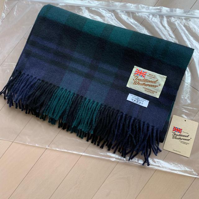 IENA(イエナ)のIENA TWW BLANKET MUFFLER C/W  カシミア混 グリーン レディースのファッション小物(ストール/パシュミナ)の商品写真