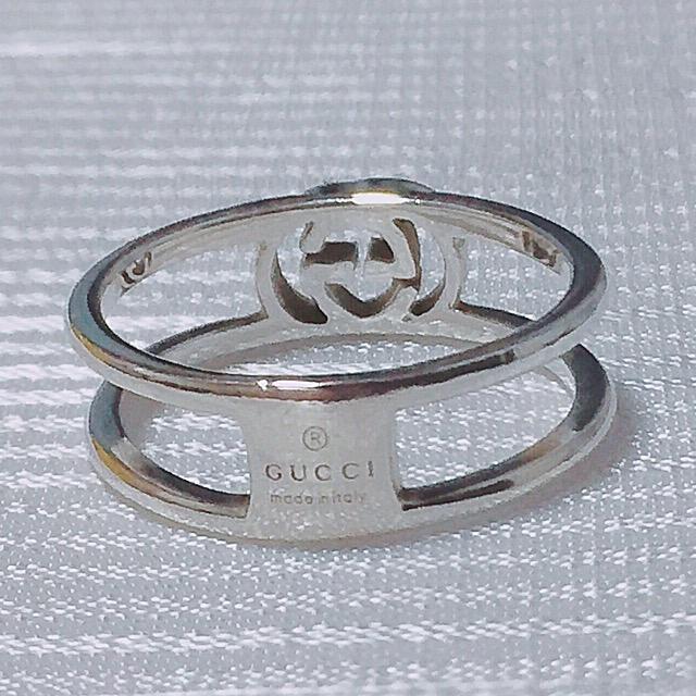 Gucci(グッチ)のグッチ 11号 オープンリング インターロッキング レディースのアクセサリー(リング(指輪))の商品写真
