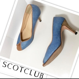 スコットクラブ(SCOT CLUB)のスコットクラブ オープントゥパンプス/パンプス/ブルー(青)36/23cm(ハイヒール/パンプス)